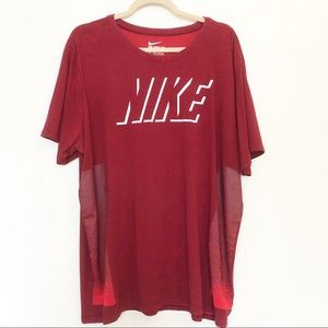 Nike Dry Fit red short sleeve shirt size XXL